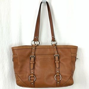 Coach Brown Satchel Leather Tote